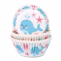House of Marie Baking Cups Gender Reveal Walvis -50st-