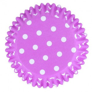 PME Baking Cups Polkadot Paars -30st- //