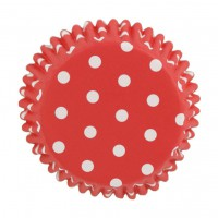 PME Baking Cups Polkadot Red -30st-