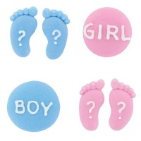 Culpitt Suikerdecoratie Baby Gender Reveal -12st-