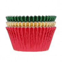 House of Marie Baking Cups Folie Kerst -50st-