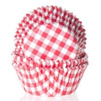 House of Marie Mini Baking Cups Ruit Rood -60st- //