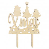 Scrapcooking Taarttopper Hout Xmas