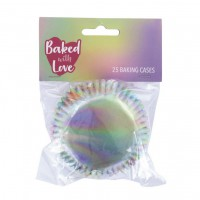 Baked with Love Folie Baking Cups Iridescent -25st-