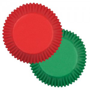 Wilton Baking Cups Mixed Red & Green 75st
