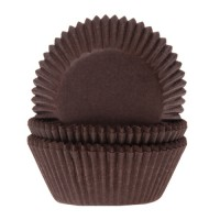 House of Marie Baking Cups Effen Bruin -50st-