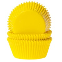 House of Marie Baking Cups Effen Geel -50st-
