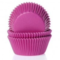 House of Marie Baking Cups Effen Fuchsia Roze -50st-