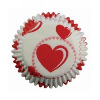 PME Baking Cups Hearts -60st-