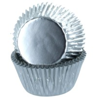 Baked with Love Folie Baking Cups Zilver -50st-