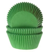 House of Marie Baking Cups Effen Grasgroen -50st-