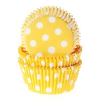 House of Marie Baking Cups Stippen Geel -50st-