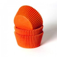 House of Marie Baking Cups Effen Oranje (50st)