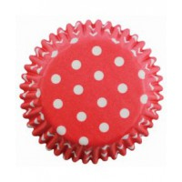PME Baking Cups Polka Dots Red -60st-