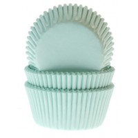 House of Marie Baking Cups Effen Mint -50st-