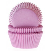 House of Marie Baking Cups Effen Licht Roze -50st-