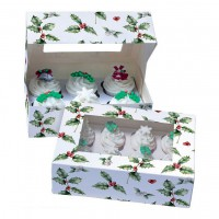 Baked with Love Cupcake Doos 6 Vintage Holly -2st-