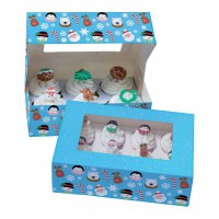 Baked with Love Cupcake Doos 6 Christmas Friends -2st-