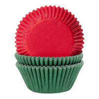 House of Marie Baking Cups Effen Kerst Mix -50st-