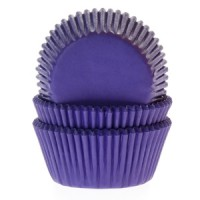 House of Marie Baking Cups Effen Paars (50st)