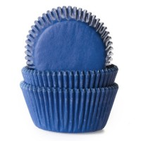 House of Marie Baking Cups Effen Jeans Blauw -50st-
