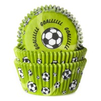 House of Marie Baking Cups Voetbal Groen (50st)