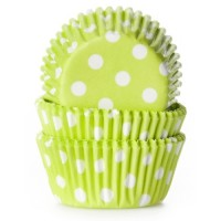 House of Marie Mini Baking Cups Stip Lime -60st-