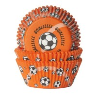 House of Marie Baking Cups Voetbal Oranje (50st)