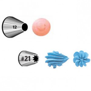 Wilton Decorating Tip Set Round 012, Open Star 021