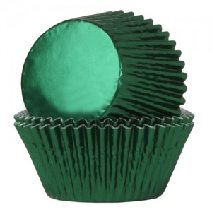 House of Marie Baking Cups Folie Groen (24st)