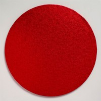 Cake Drum Rond Rood -40,5cm-
