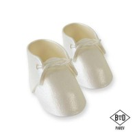 PME Edible Cake Topper Baby Bootee Pearl -2st-