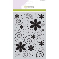 Craft Emotions Stencil Flowers with Dots & Stars
