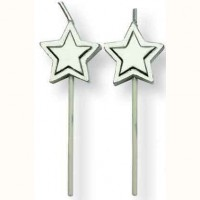 PME Candles Silver Stars -8st-