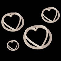 FMM Heart Cutter Set -4st-