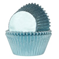 House of Marie Baking Cups Folie Baby Blauw (24st)