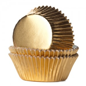 House of Marie Baking Cups Folie Goud (24st)