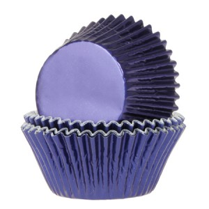 House of Marie Baking Cups Folie Navy Blauw (24st)