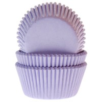 House of Marie Baking Cups Effen Lila -50st-