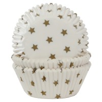 House of Marie Baking Cups Ster Goud -50st-
