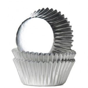 House of Marie Mini Baking Cups Folie Zilver (36st)
