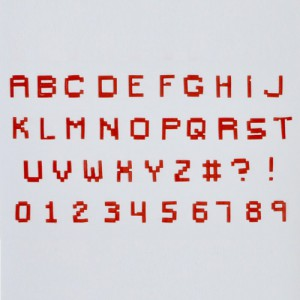 FMM Tappits Alphabet & Numbers Pixel Upper Case