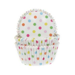 House of Marie Baking Cups Confetti -50st-