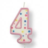 PME Large Candle Pink Number 4