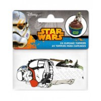 Stor Papieren Cupcake Toppers Star Wars -24st-