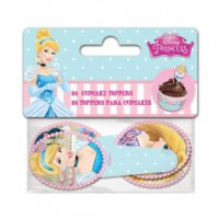 Stor Papieren Cupcake Toppers Prinsessen -24st-