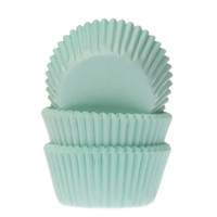 House of Marie Mini Baking Cups Effen Mint -60st-