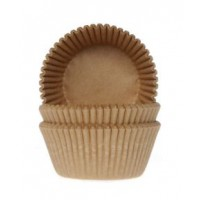 House of Marie Baking Cups Kraft -50st-