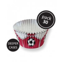 PME Foil Baking Cups Football Red -30st-