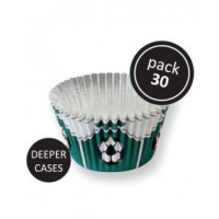 PME Foil Baking Cups Football Green -30st-